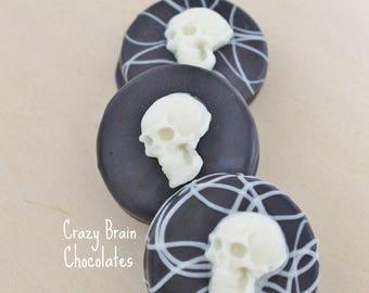 Chocolate Skull Oreo Cookies (12)