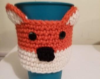 Crochet Coffee Cup Cozy Stocking Stuffer Christmas Gift Santa Reindeer Football Sock Monkey Frog Snowman