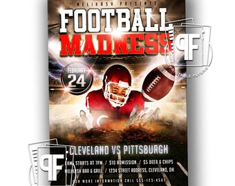 Football Flyer - Football Invitation - Football Party Flyer - Football Party Invitation - Monday Night Football Invitation
