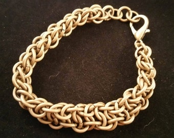 Antiqued Gold Vipera Berus Chainmaille Bracelet