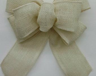 Ivory Burlap Bow