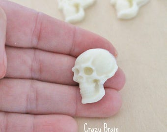 Mini Solid Chocolate Skulls - Cupcake Toppers (12)