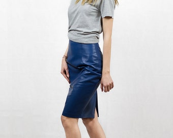 Eclipse genuine leather skirt