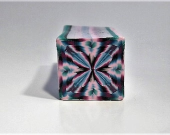 Polymer Clay Cane, Kaleidoscope, Raw, Unbaked, Millefiori, Square Cane