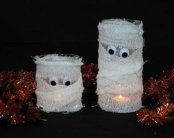 Halloween Decoration Mummy, Mummy, Mummy Candle, Halloween Decor, Halloween Decorations, Halloween Candle Holder, Halloween Candles