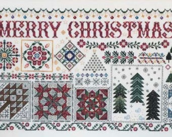 ROSEWOOD MANOR Christmas Quilts counted cross stitch patterns at thecottageneedle.com 2018 Nashville Market