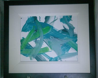 Green and Blue Orangutan Painting