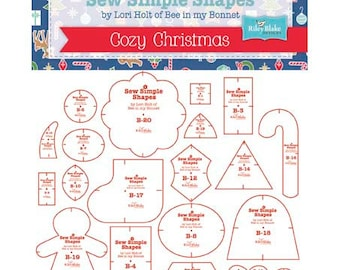 SALE!!  Sew Simple Christmas Shapes by Lori Holt of Bee In My Bonnet Template Rulers (STTEMPLATE-2893)