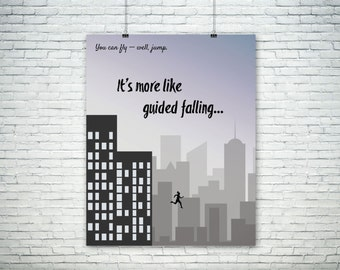 Marvel's Jessica Jones - More Like Guided Falling Quote - Poster/Print