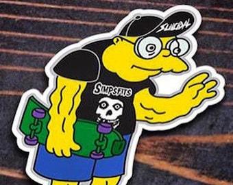 Moleman Skater - Vinyl Bumper Sticker