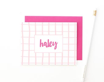 Personalized Stationary for Girls Personalized Stationery Set Custom Calligraphy Stationery Personalised Script Note Cards Bridesmaids Gifts