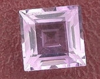 8mm square amethyst gem stone gemstone faceted natural