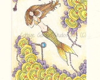 Mermaid Art, Fantasy Art, Summer, Ocean Art