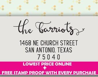 Family Return address stamp - Custom address Stamp - 3A
