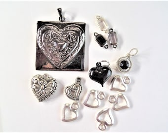 Valentines Heart charms mix and match. Choose one of two sets available. S41