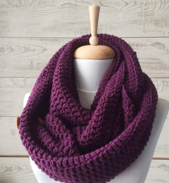 Bufanda de lana de la bufanda tejer bufanda infinito punto