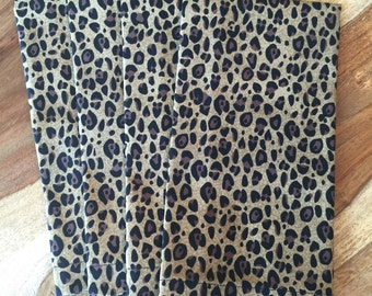 Leopard Print Napkins-brown, black animal print-Set of 2 or 4
