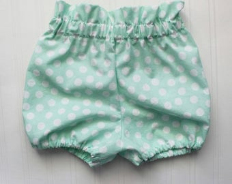 Jaylie printed paper bag bloomer, shorts, diaper cover, bloomers, ruffled