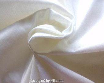 White Smoke Art Silk Dupioni Fabric By Yard, Bridesmaid Fabric, Curtain Material, White Indian Silk Fabric, Drapery Fabric, Indian Fabrics