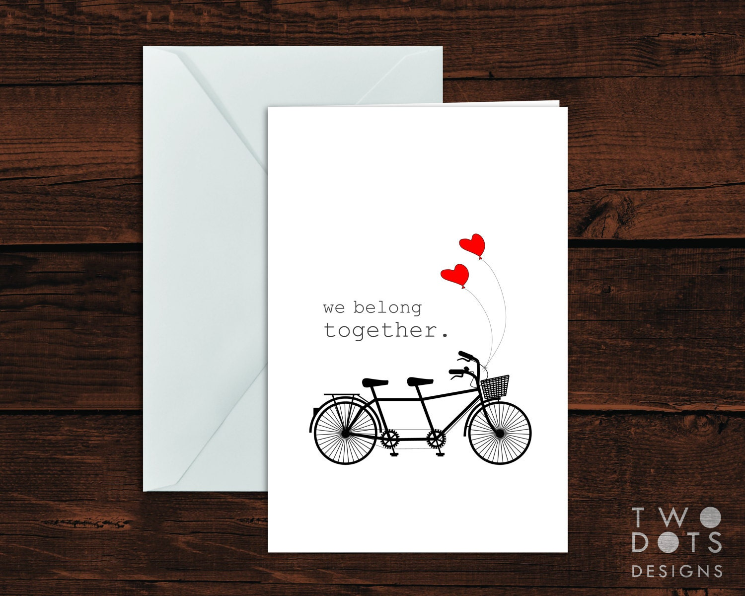 4x6 printable greeting card we belong together tandem zoom kristyandbryce Image collections