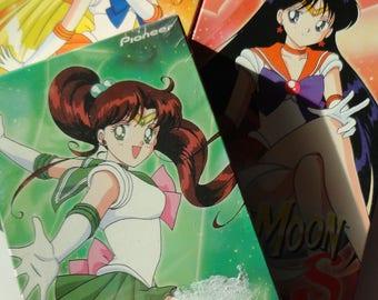 3 Vintage SAILOR MOON VHS Tapes - 90s Collectible, Retro Kids Cartoon, Geekery Nerd Gift, Cartoon Anime, Sailor Scouts, Tuxedo Mask, Tv Show