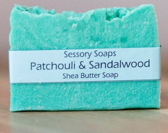 Patchouli and Sandalwood Shea Butter Bar Soap