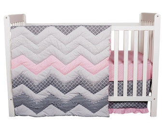 Cotton Candy 3 Piece Baby Bedding Set, Baby Bedding, Nursery