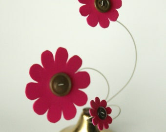 Whimsical Kinetic Flower Sculpture