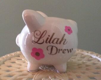 Piggy bank, Baby's first bank, Bank, Custom piggy bank, Personalized Piggy bank, Girl Piggy bank, Boy Piggy bank, Baby shower gift, New baby