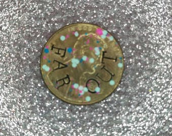 FAR OUT funky hand stamped penny
