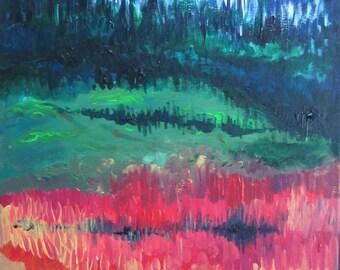 Painting original acrylic on canvas 64 x 40 cm