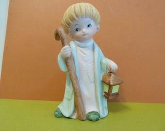 Homco Shepherd Boy w / Lantern & Staff, #5602