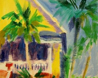 Yellow Beach House Porch - Archival Print