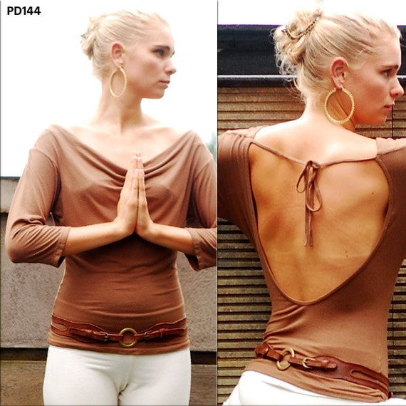 Leslie Backless Top for Womens Fashion Boho Chic Yoga Wear Gift