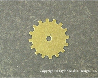 Steampunk Gears, Watch and Clock Pieces in Antiqued Polished Brass (item 3001-medium AG) - 6 Pieces