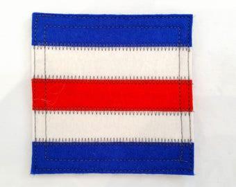Wool felt coaster nautical signal flag C