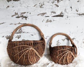 set of vintage hanging baskets