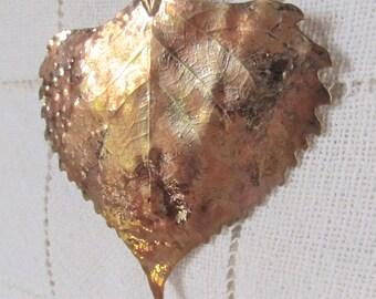Dipped Aspen Leaf, Ornament, Pendant