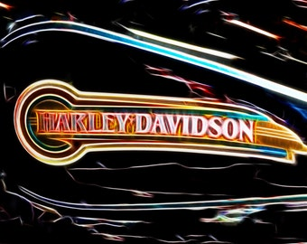 Harley Davidson Present- Fine Art Photograph Print Picture