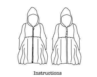 BUNDLE SPECIAL!  Sail Away Hoodie Sewing Pattern. PDF file women, kids, teens Sizes.