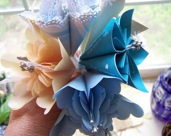 15 Fancy Kusudama Origami Paper Wedding Flowers With Stems