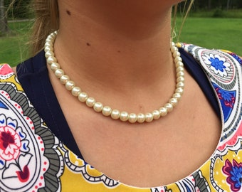 Pearl Necklace Perfect for Bridesmaids, Weddings, Special Occasions