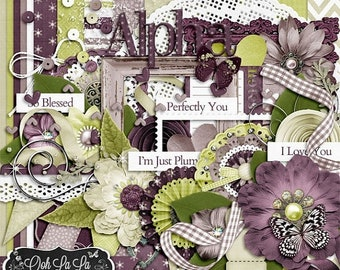 On Sale 50% Off I'm Just Plum Crazy About You Digital Scrapbook Kit