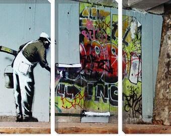 Graffiti Wallpaper Hanging By Banksy 2071 60x40