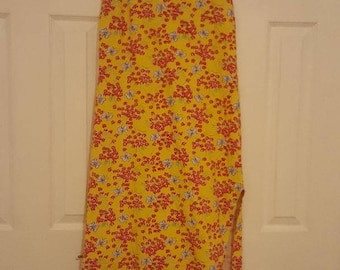 Authentic 90's Lilly Pulitzer butterfly sun dress with double slits! - size LARGE