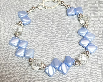 Unique Pretty Pastel Lt. Blue Bracelet Arm Jewelry #182