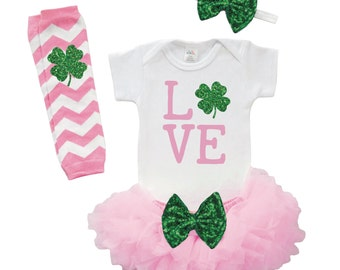 Baby Girl St. Patrick's Day Outfit My First St. Patrick's Day Cute St. Patrick's Day Outfit Girl St. Patrick's Day Outfit Newborn 001