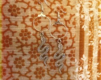Bohemian Earrings - Snake Earrings, Witchy Earrings