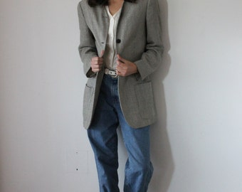 90s Grunge Blazer Jacket //  Hipster Chic Oversized Jacket // Made in Italy // Size 6