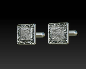 Cuff links cufflinks mens jewelry mens cufflinks  silver cuff links square cuff links mens cuff links mens gift mens present for men CS4